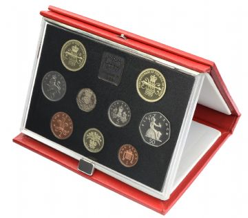 1989 Proof set red Leather deluxe